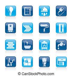 bouwsector, en, vernieuwing, iconen