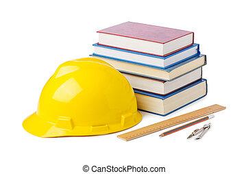 bouwsector, Industrie,  concept, opleiding, witte