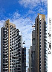 bouwsector, kranen, bouwterrein