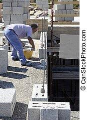 bouwsector, metselaar, arbeider, bricklaye