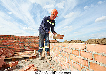 bouwsector, metselaar, arbeider, metselaar