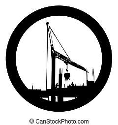 bouwsector, symbool, vector