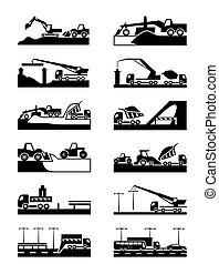 bouwsector, van, wegen, en, bruggen