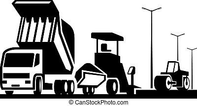 bouwsector, van, wegen