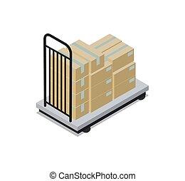 bouwsector, vervoer, vector, illustratie