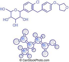 bouwwerken, van, molecules, abstract