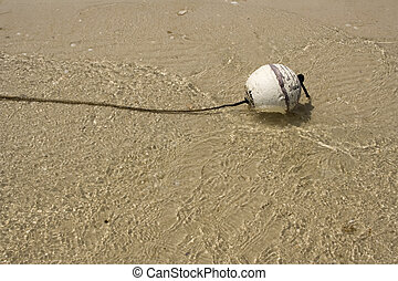 Bouy - buoy floating alone in the ocean looking lonely