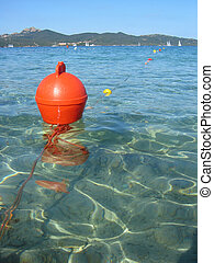 Bouy - Orange bouy on the mediterranean