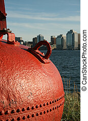 Bouy - This buoy is a fixture of the waterfront in Dartmouth...