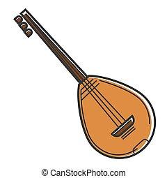 bouzouki, キプロス, 国民, 楽器, 国民, ひも, ギター, 旅行, シンボル, ベクトル, アイコン