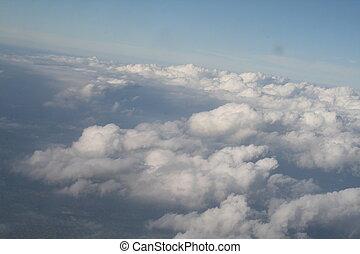 boven, wolken