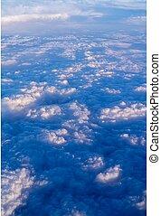 bovenzijde, clouds., aanzicht