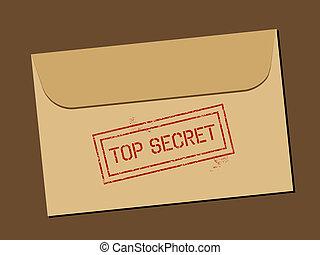 bovenzijde, document, geheim