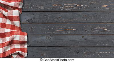 bovenzijde, donker, hout, achtergrond, tafel, aanzicht