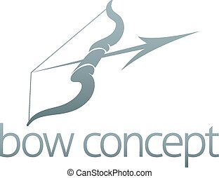 Bow and arrow design - An abstract illustration of a bow and...