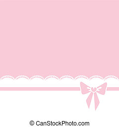 bow and lace border - Pink background with bow and lace...