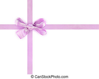 Bow and ribbon isolated on white background