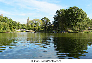 Bow Bridge over The Lake in Central Park