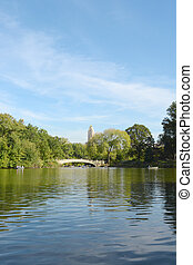 Bow Bridge spanning The Lake in Central Park