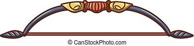 Bow for arrow icon, cartoon style