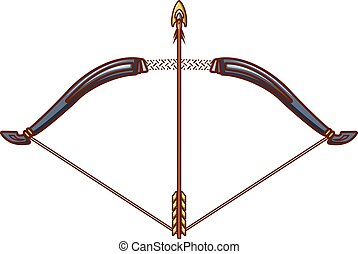 Bow icon, cartoon style