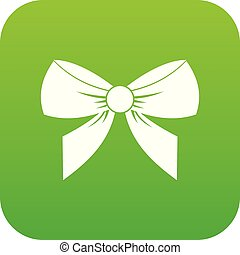 Bow icon digital green