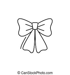 bow icon in line art style. Vector illustration esp 10