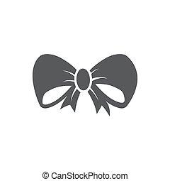 Bow icon on white background