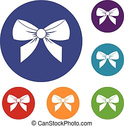 Bow icons set