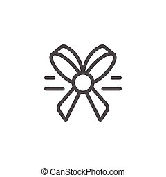 Bow line icon