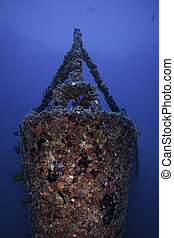 the bow of the Spiegel Grove in Key Largo, Florida