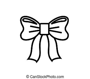 Bow on a white background .Cartoon. Vector