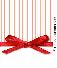 Bow on striped and white background