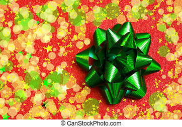 Bow on the red background - holiday concept