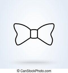 bow outline, Simple vector modern icon design illustration.