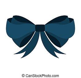 bow ribbon blue icon