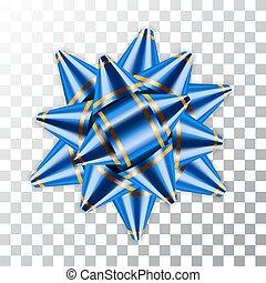 Bow ribbon christmas vector illustration - Blue bow ribbon...