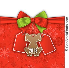Bow Ribbon with Christmas Labels, Tags Sale