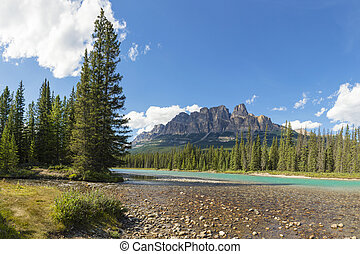 Bow River and Castle Mountain Banff National Park