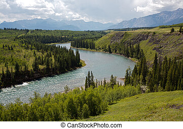 Bow River valley and Rocky Mountains