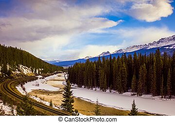Bow River Valley in Banff