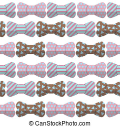 bow seamless hipster pattern