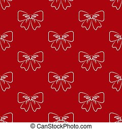 Bow. Seamless pattern.