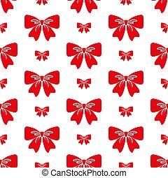 Bow. Seamless pattern.