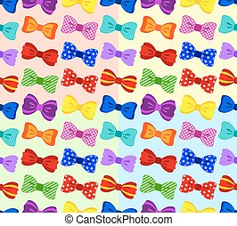 Bow seamless pattern on color