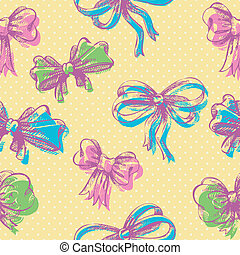 Bow seamless pattern
