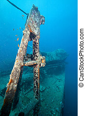 Bow side of the Thistlegorm wreck.