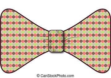 Bow tie - A necktie in the form of a bow.