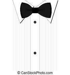 Bow tie - Black bow-tie and a classic white shirt