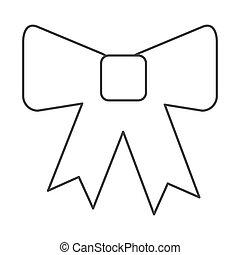 bow tie decoration icon